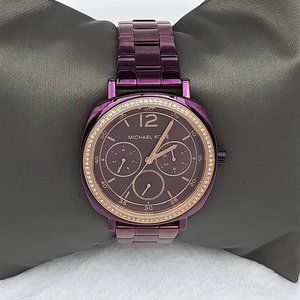 Michael Kors Womens Pave Bracelet Watch/Plum